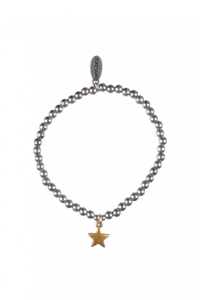 Hultquist Moon & Star Gold and Silver Elastic Bracelet