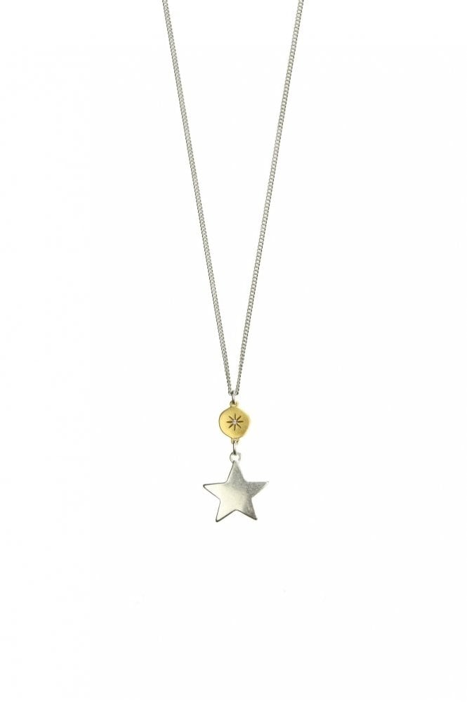 Hultquist Jewellery Moon & Star Gold and Silver Pendant Necklace