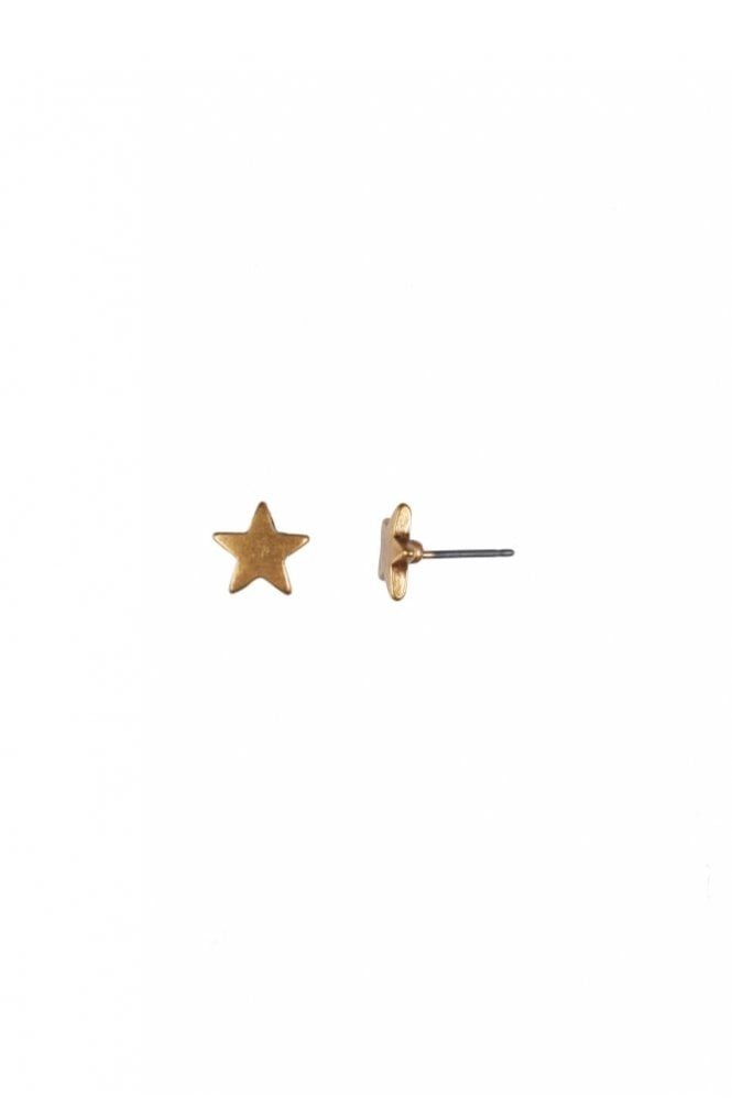 Hultquist Moon & Star Gold Stud Earrings