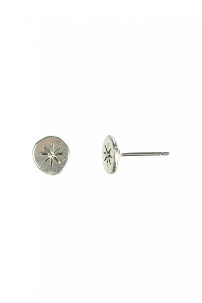 Hultquist Moon & Star Silver Earrings