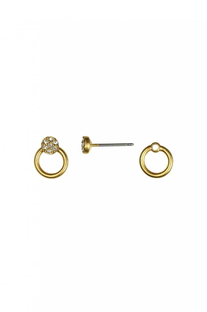 Hultquist Jewellery New Nordic 2-in-1 Gold and Crystal Earrings
