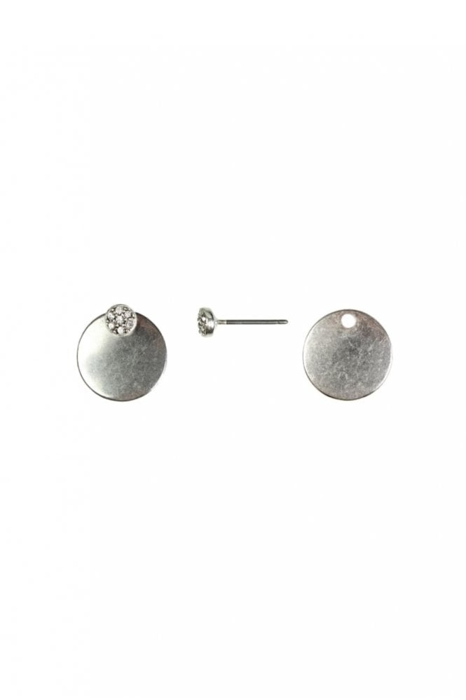 Hultquist New Nordic 2-in-1 Silver Coin and Crystal Earrings