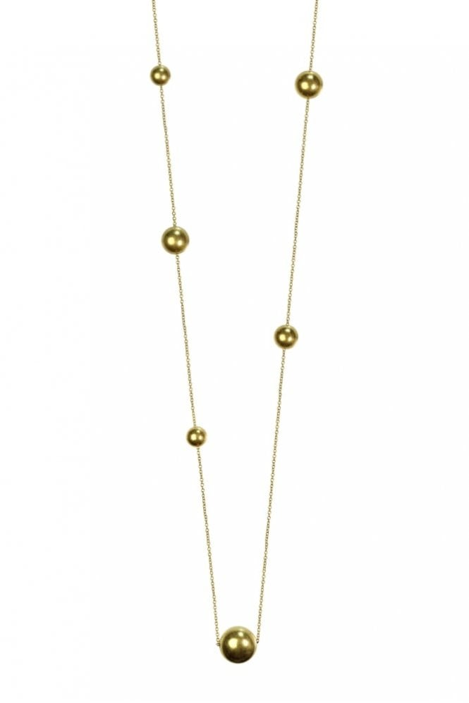 Hultquist Jewellery New Nordic Gold Ball Long Necklace