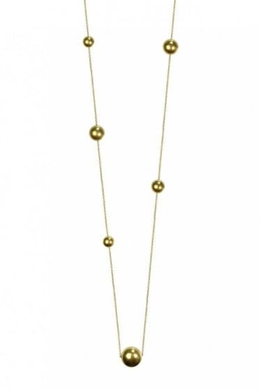 New Nordic Gold Ball Long Necklace
