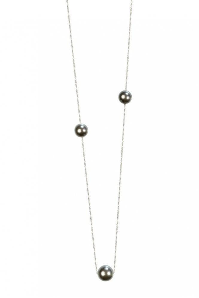 Hultquist New Nordic Silver Necklace with Grey Pearls