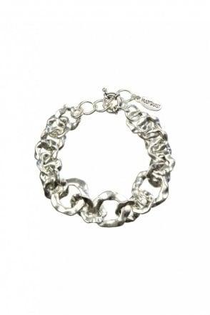 Organic Circle Silver Bracelet