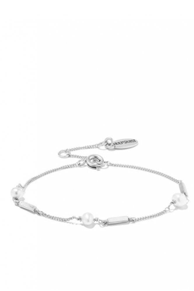 Hultquist Jewellery Pearl & Chain Bracelet in Silver