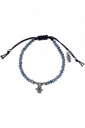 Sacred Charms Silver Macrame Bracelet