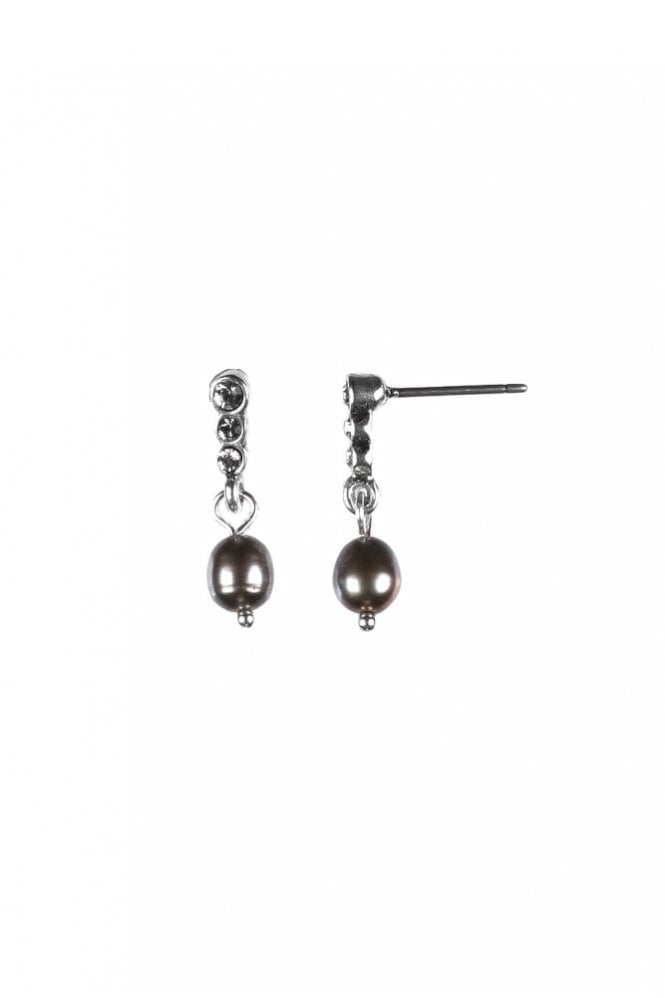Hultquist Semi-Precious Silver Crystal Drop Earrings