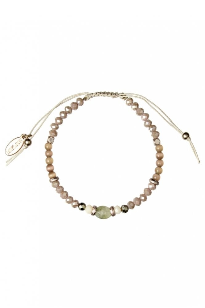 Hultquist Jewellery Semi Precious Stone Macrame Bracelet in Rosegold and Stone