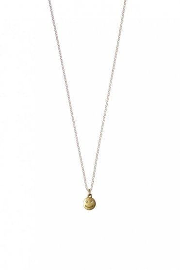 Smile Lips Gold and Silver Necklace