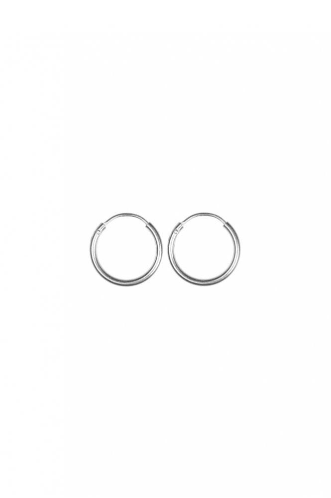 Hultquist Sterling Silver 13mm Hoop Earrings