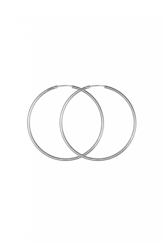 Hultquist Jewellery Sterling Silver 50mm Hoop Earrings