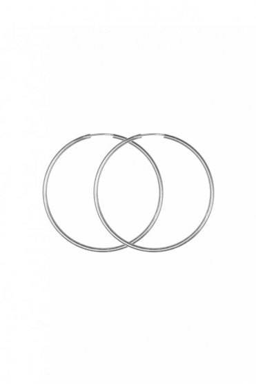 Sterling Silver 50mm Hoop Earrings