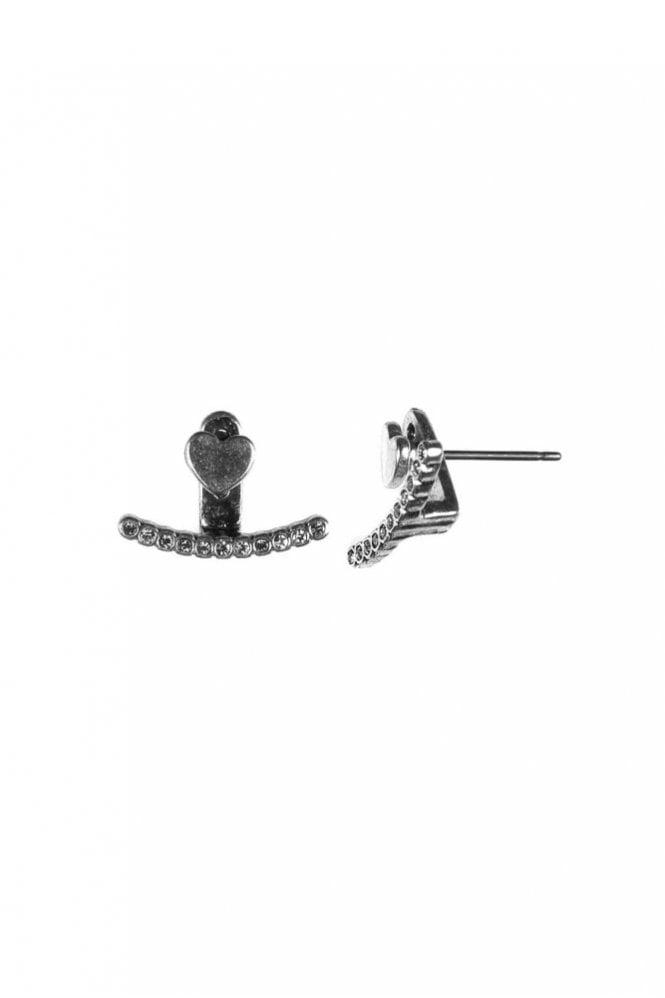 Hultquist Jewellery Two In One Silver Heart Double Earrings