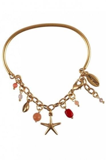 Under the Waves Starfish Bangle Bracelet in Gold