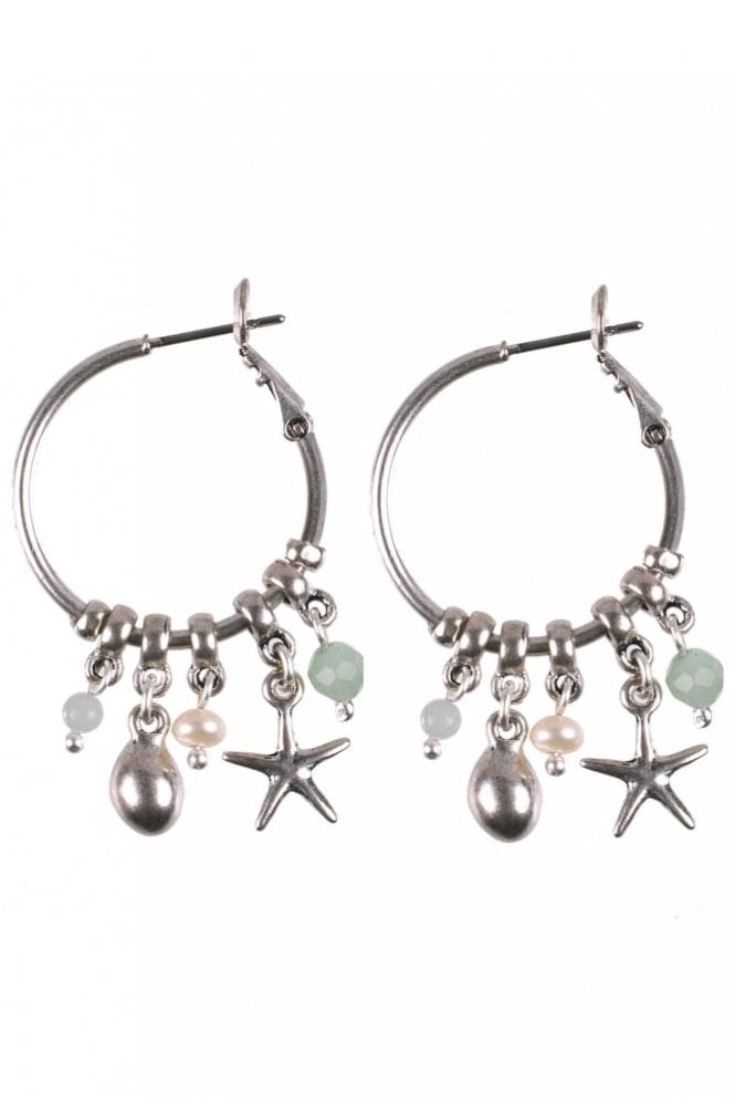 Hultquist Jewellery Under the Waves Starfish Hoop Earrings in Silver
