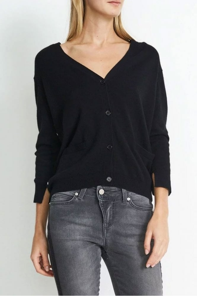Hunkydory Molly Star Cardigan in Almost Black