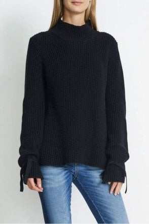 Rachel Rib Knit in Dark Navy