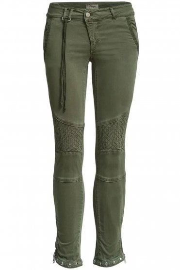 Ryan Twill Pant in Army