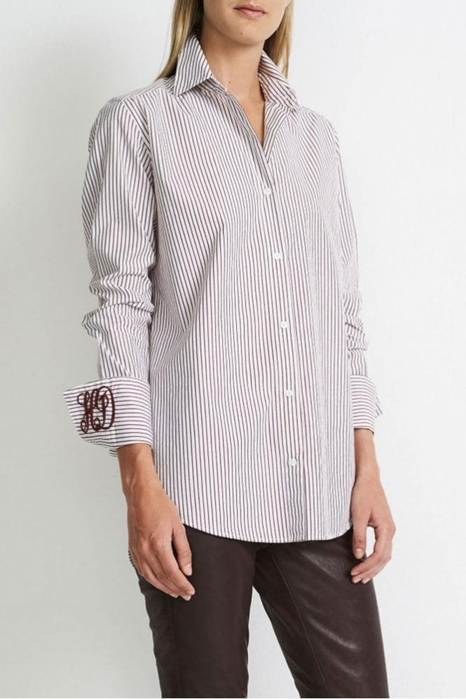 Hunkydory Striped B.D. Shirt in Burgundy