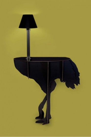 Mobilier De Compagnie Ostrich Console – Diva Lucia Black