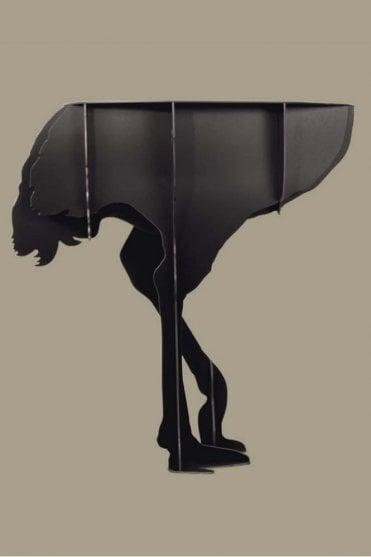 Mobilier De Compagnie Ostrich Wall console – Diva Black