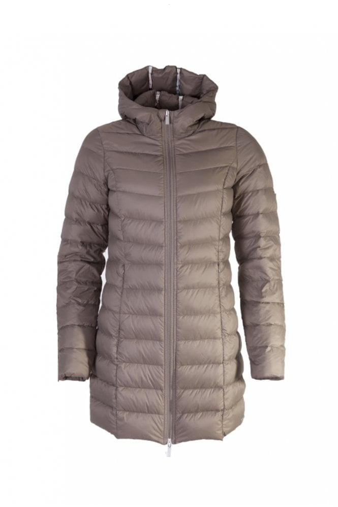 Ilse Jacobsen Air 01 Down Coat with Hood in Taupe