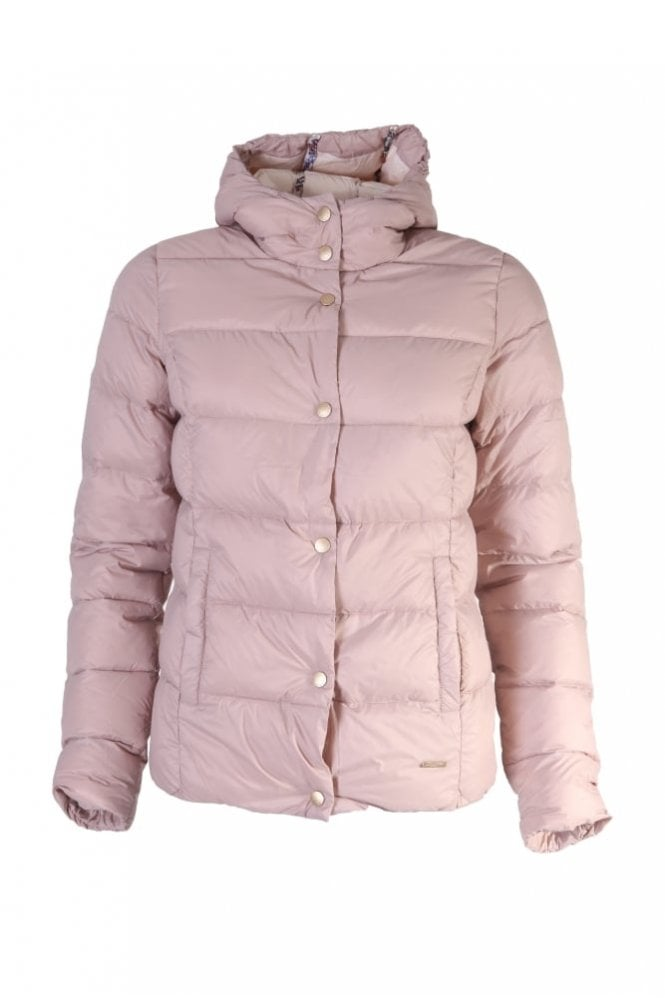 Ilse Jacobsen Air 04 Down Jacket With Hood in Adobe Rose