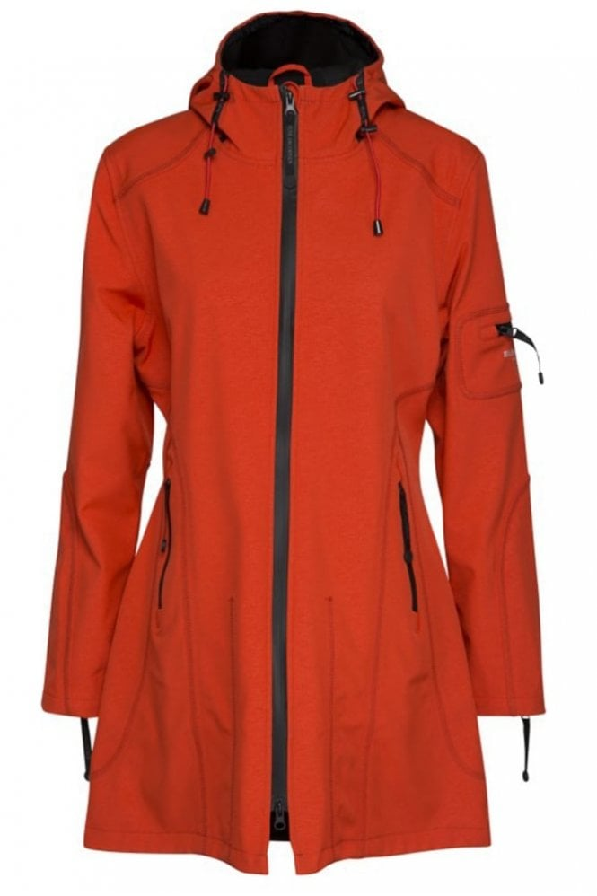 Ilse Jacobsen RAIN07 ¾ Raincoat in Warm Orange