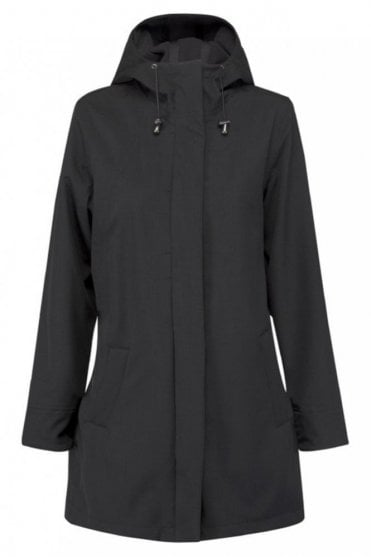 RAIN50 Thigh-Length Raincoat in Black