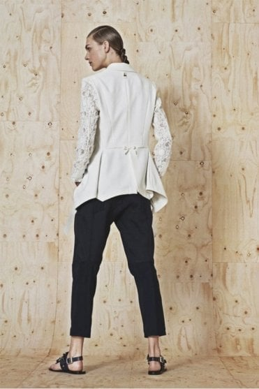 In Motion Flat Front Pants in High-Tech Twill and Jersey