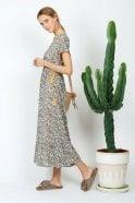 Indi and Cold Boho Floral-Print Midi Dress in Azafrán
