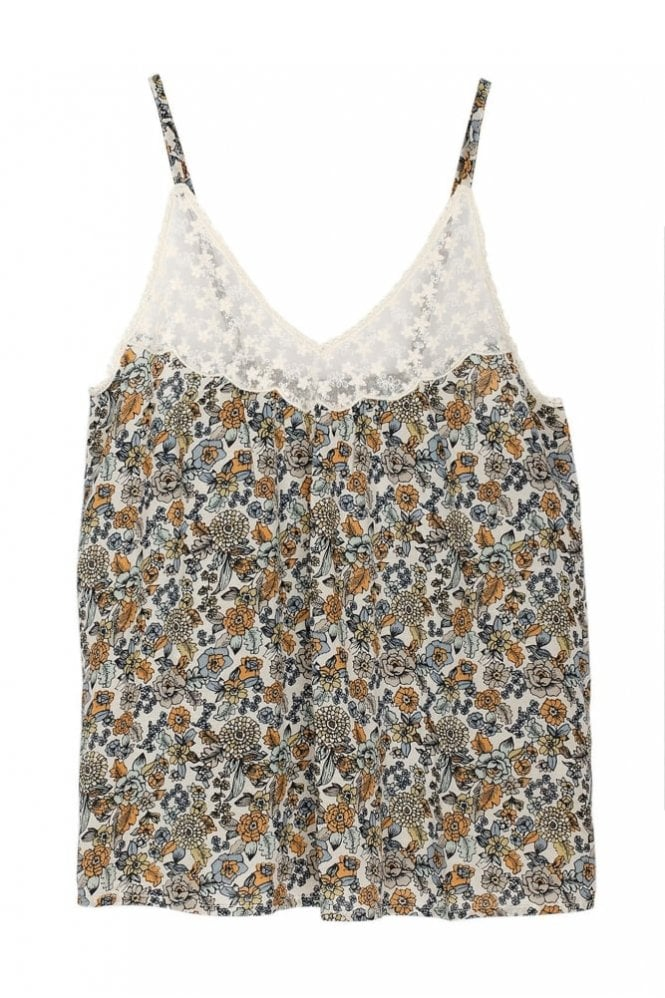 Indi and Cold Boho Floral-Print Top in Azafrán