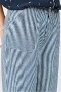 Indi and Cold Cropped Striped Wide Leg Pants in Indigo