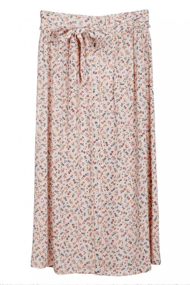 Indi and Cold Prairie Midi Skirt in Marfil