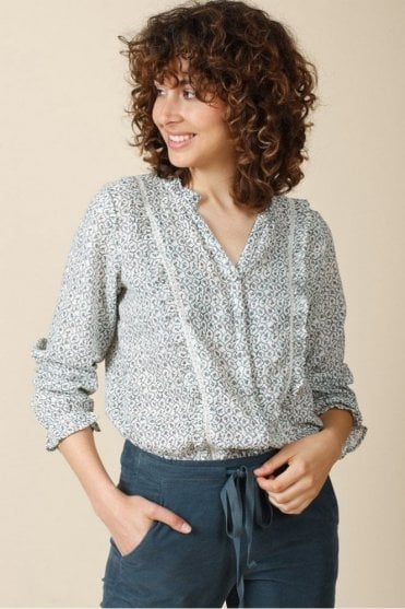 Printed Lace Blouse
