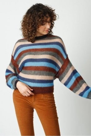 Sweater with Coloured Stripes