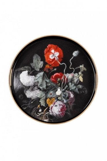 V&A Round Serving Tray – Dutch Flowers