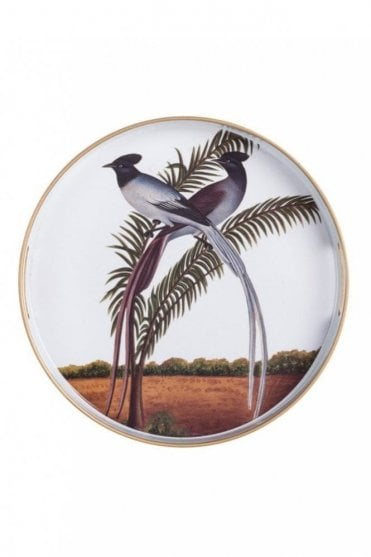 V&A Round Tray – Indian Birds II