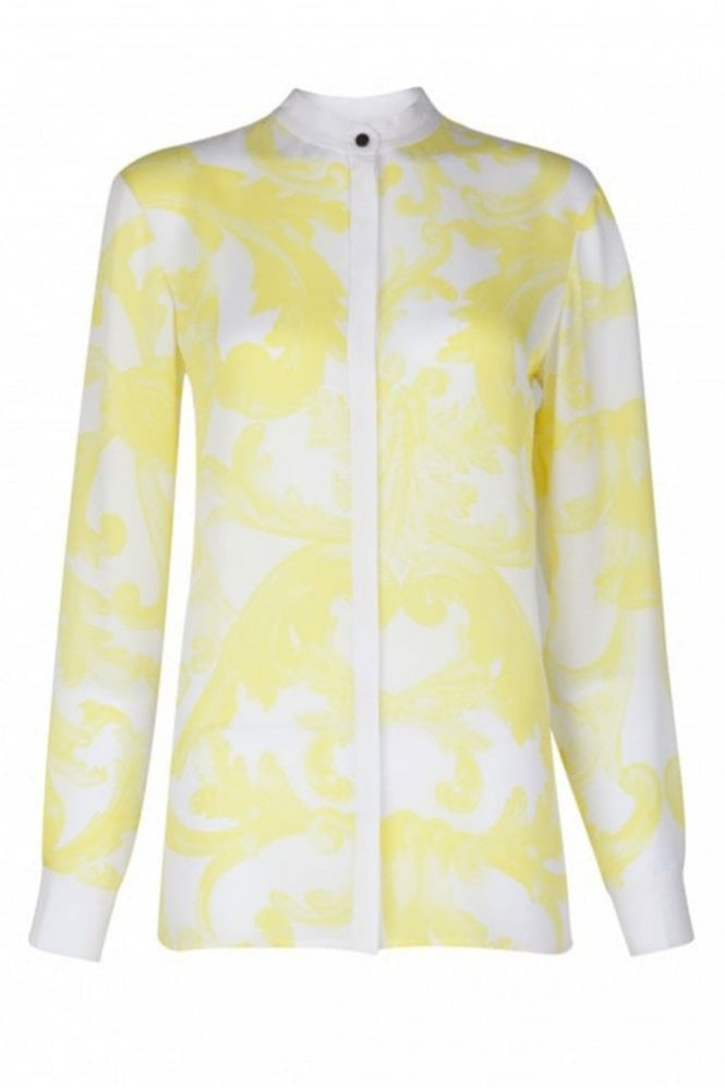 Issa Dana Yellow Print Shirt in Mimosa