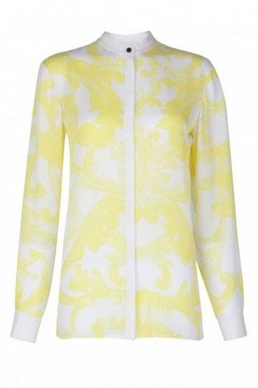 Dana Yellow Print Shirt in Mimosa