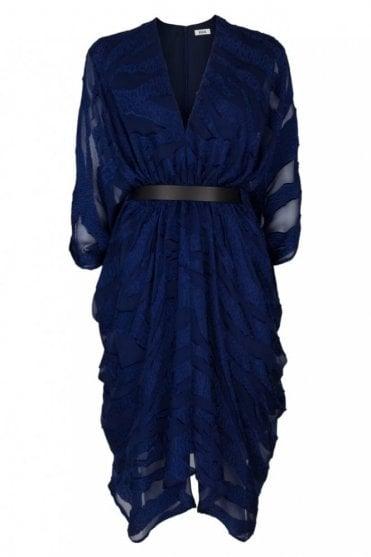 Ness Blue Fil Coupe Dress