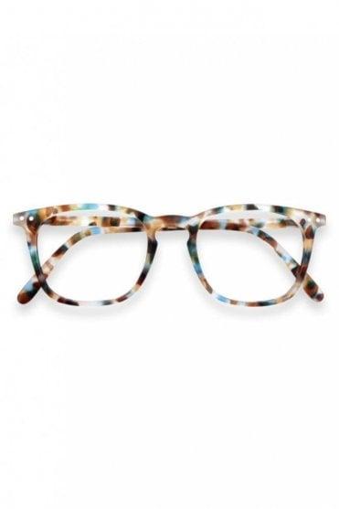LetMeSee #E Reading Glasses in Blue Tortoise