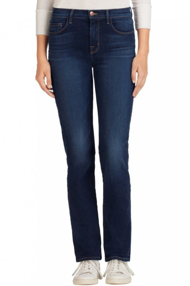 J Brand 23104 Maria High-Rise Straight in Starlight