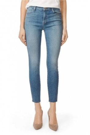 Alana High Rise Cropped Super Skinny in Delphi