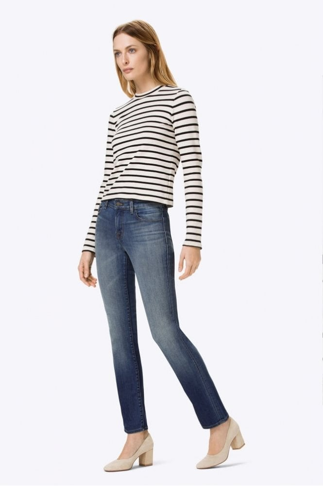 J Brand Amelia Mid-Rise Straight In Decoy