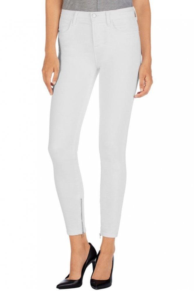 J Brand Hanna Cropped Skinny Jean in Blanc