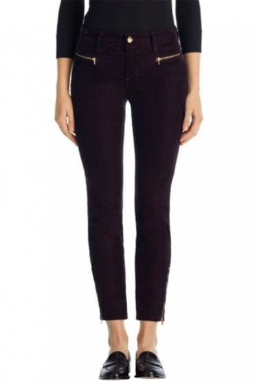 Iselin Skinny with Zips in Cord Velvet