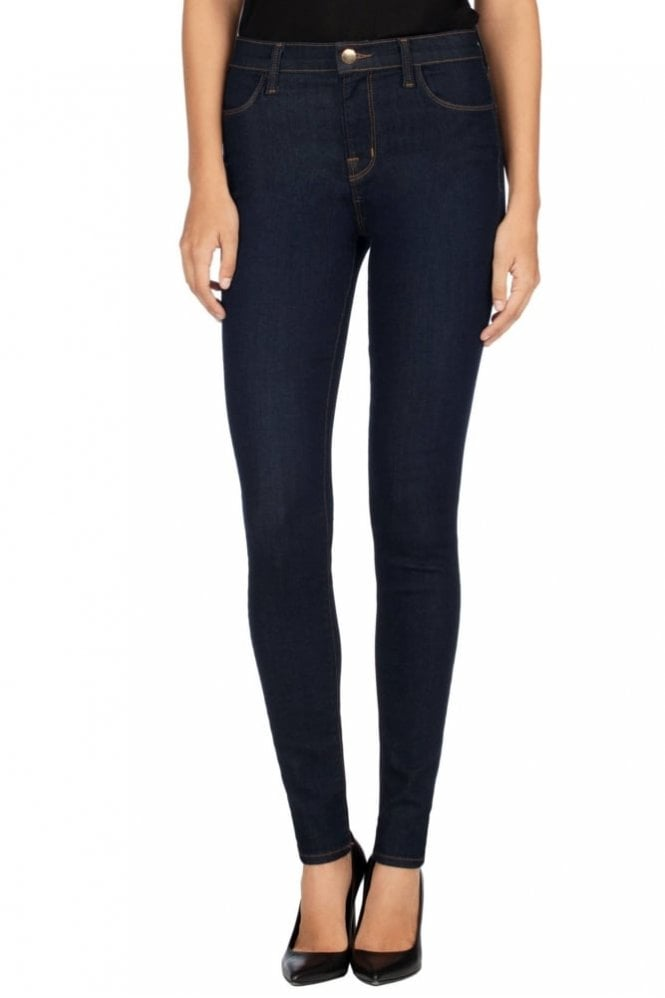 J Brand Maria High Rise Super Skinny in Ultra Lush After Dark